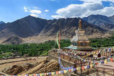 Stupa overlooking Leh