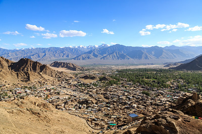 View over the centre of Leh