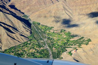 View towards Matho and Matho Gompa (Monastery)