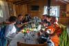Dinner in Villa O'Higgins