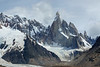 Cerro Torre with Fitz Roy in cloud