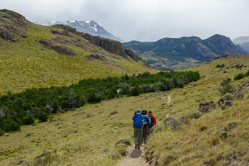 Hiking back to El Chaltén