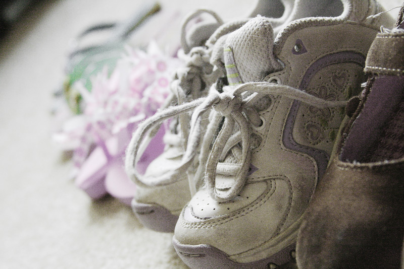 How They Grow, little shoes all lined up.