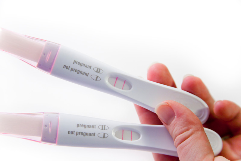 Positive pregnancy tests. Baby is coming soon.