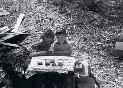 Erna and Rusty at Dad's Poplar Hills lot