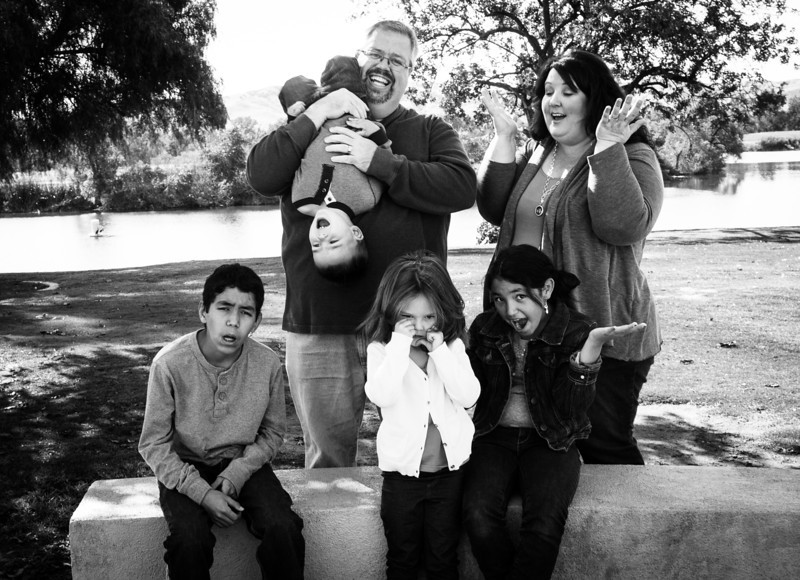 Frustrated Family Photo - Sometimes kids melt down during a photo shoot - when they do - it is best to just have fun with it!