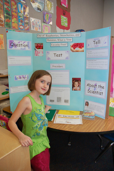 Ainsley's first science fair!