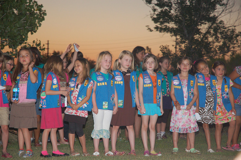 Ainsley's bridging ceremony--from Daisies to Brownies!