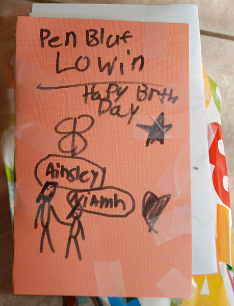 The card Ainsley made for Niamh's birthday.  The Cornish was entirely her idea (tickled Drew to no end).