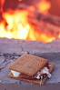 Homemade graham crackers, homemade marshmallows, good quality chocolate.  Holy cow, yum!