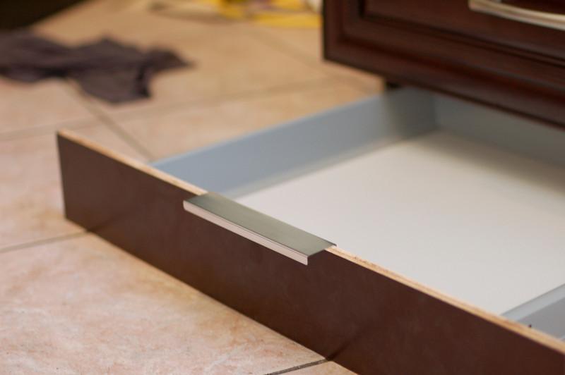Secret toekick drawer!