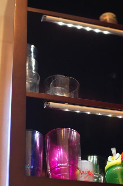 Cabinet lights on sensors!  Solve the deep dark cave problem.
