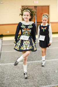 Practicing before the feis starts.