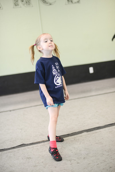 Niamh, all ready for her first day of Irish dancing lessons!  She was so excited and proud!  All the big kids who have seen her around the studio for the last couple years were so excited for her, too.  Lots of hugs and exclamations.