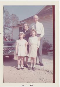 36 - Lura, Sharon, Aunt Jewel, Uncle Floyd 1962
