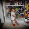* Caught red handed sneaking a midnight snack.  LOL   ;)
