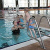 Colton's first swimming lessons