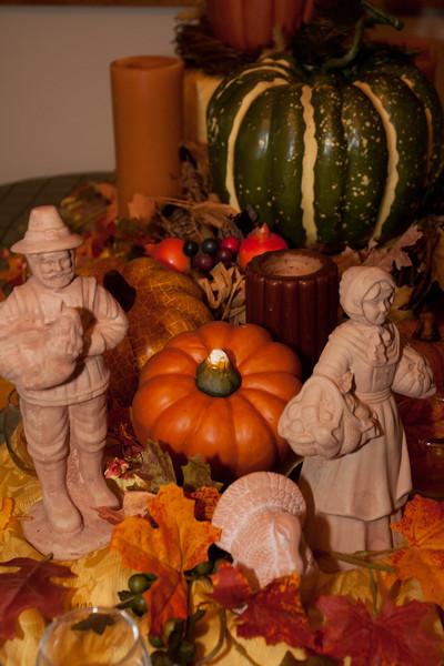 Thanksgiving decorations.