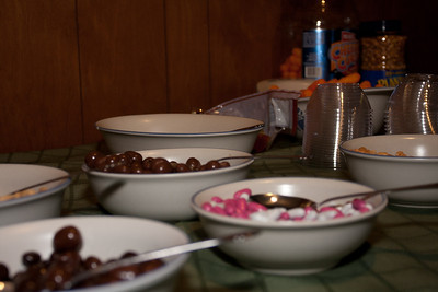 All sorts of munchies were laid out in the family room; the Good'n'Plenty's were addictive.