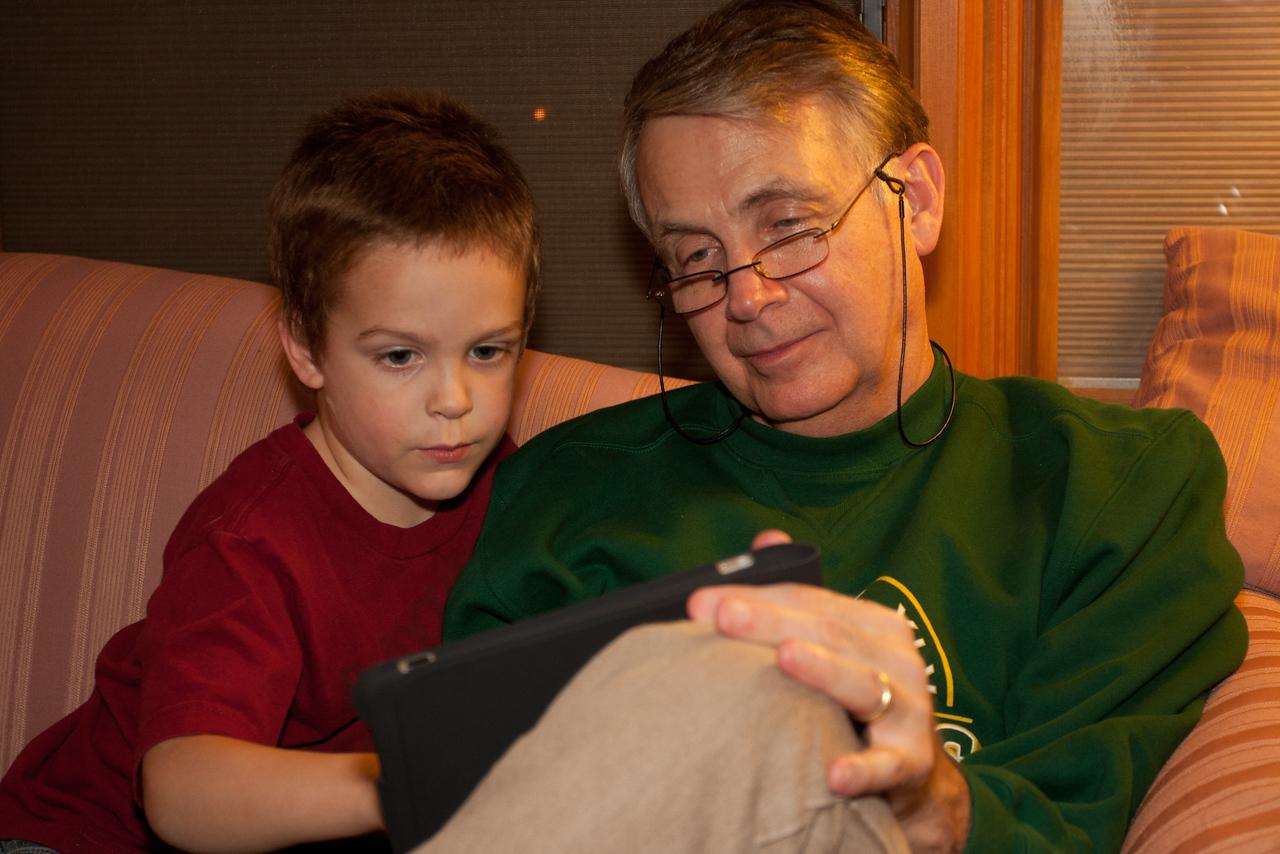 Still playing on that iPad.