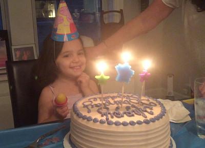 Madeleine's Third Birthday, 5/11/16