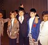 Joe Tantravahi, Teddy Farnsworth, Michael Rothschild, Brett Cortez, Steven Feal<br /> <br /> Michael Rothschild's Bar Mitzvah, 1975<br /> <br /> Temple Sinai, Tenafly, NJ