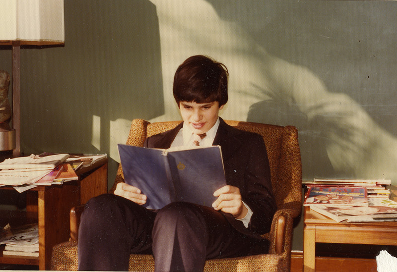 Michael Rothschild<br /> <br /> The day after his Bar Mitzvah, 1975 (photographer had to come back to the house to take photos)