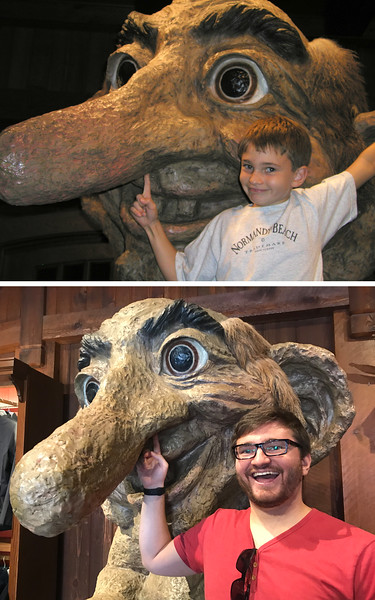 Orlando 2003 (family trip, along with AAOHNS)<br /> Disney World<br /> <br /> Orlando, 2017, family trip to Disney World<br /> <br /> Dylan Rothschild with wooden troll at Epcot