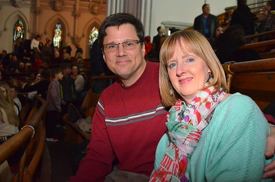 Ed and Kathy waiting for mass to begin.