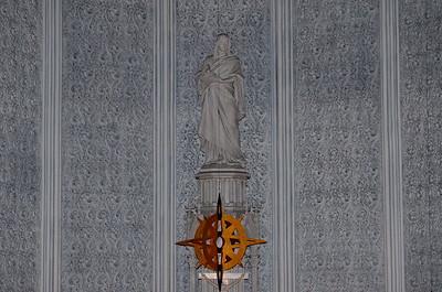 St. John the Evangelist with hanging star of Bethlehem below him.