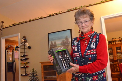 Grandma got new silverware for Christmas
