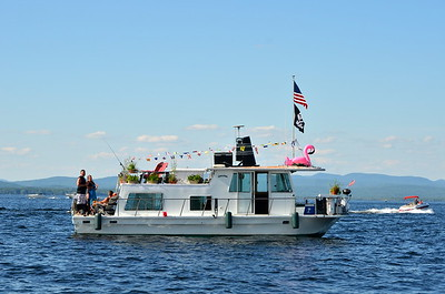Random pirate boat on lake.