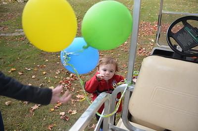 Baloon loving kid