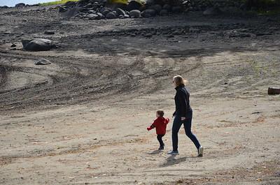 Running to the lake with Nana close behind