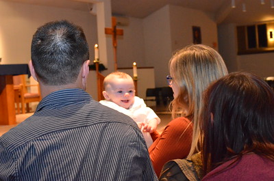 I survived my baptism with pooping or crying!!