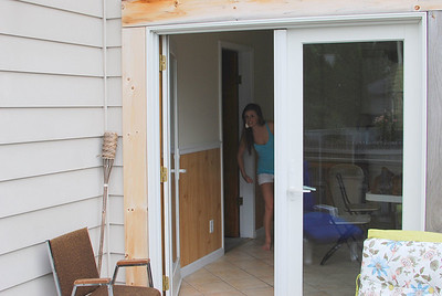 From the rear porch looking in - see that girl.