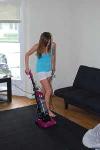 Yes, this is Kirsten using a vacuum cleaner.