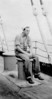 Allen Searles as a very young man aboard ship as a merchant mariner.