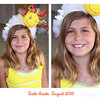 Emily is famous for making these crazy headbands....   The sunshine was a warm smile to the first day of school.  :)