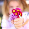 She always sneaks out and picks flowers for me...  I love that about her.. :)