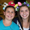 "BFF's and their home-made Easter headbands..   Posing for a shot after Emily's ""Student of the Month"" award  :)"