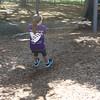 Erin ziplining