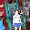 Katie sitting in the Big Guy's chair