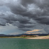 Storm Clouds looming all day long..  finally broke as were were heading out..  Lake Pleasant, August 2012