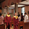 Filing in for the Baccalaureate Mass
