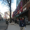 Early on game day, Yawkey Way