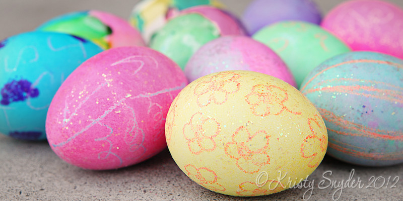 What can be prettier than the colors of spring..  Love a bunch of decorated eggs.  The girls did a great job<br /> coloring them this year.