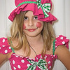 "My Emily....   Dressed as ""Rasberry Girl""....  A friend of Little Miss Muffet perhaps?"