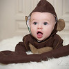 Adorable Jaxon... little Monkey man... <br /> <br /> You would know how fitting his costume is if you could see just how he clings to his momma like a little monkey.. so precious!