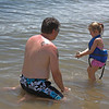 Uncle Ed and Alyssa...   digging in the sand..  He such a fun Uncle to play with.  :)
